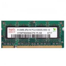 Kit de memoria SODIMM 512  PC2- 5300-LT